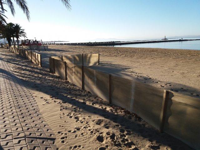 Col·locació teles platges