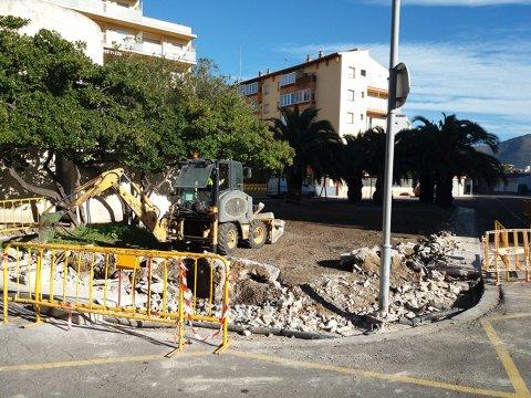La placeta Brancals de Santa Margarita se renueva incorporando juegos infantiles y una zona verda y mejorando la accesibilidad