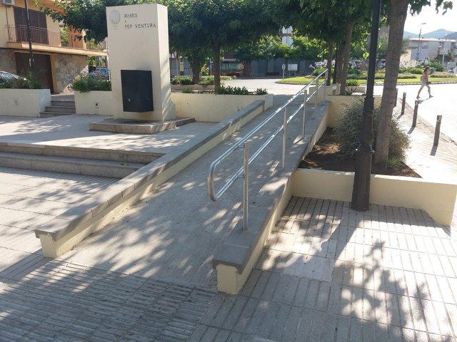 Millora de l'accessibilitat a la plaça Pep Ventura